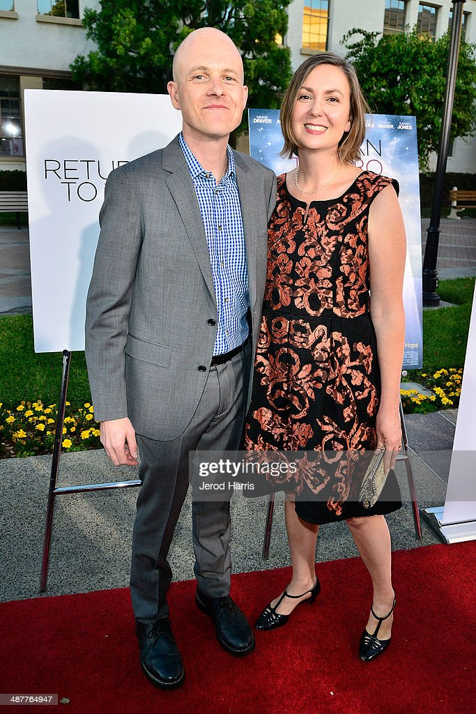 Producer Paul Jaconi-Biery and Trina Jaconi Biery arrive at the Premiere of Lifetime Television's 'Return To Zero' at Paramount Theater on the Paramount Studios lot on May 1, 2014 in Hollywood, California.