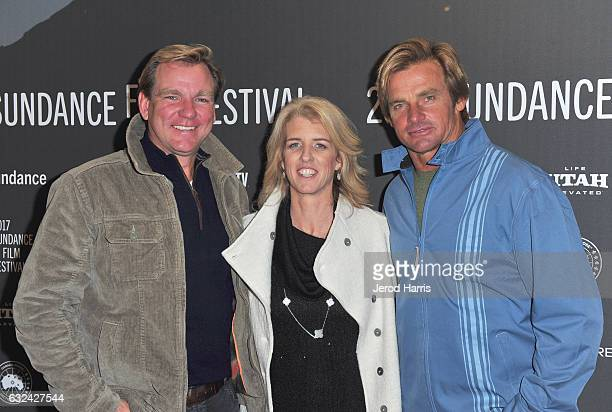 Producer Paul Speaker Director Rory Kennedy and Laird Hamilton attend the 'TAKE EVERY WAVE The Life Of Laird Hamilton' Premiere on day 4 of the 2017...
