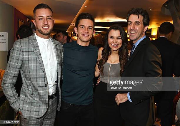 Producer Paul Taylor Mills cast members Jonathan Bailey Samantha Barks and writer/director Jason Robert Brown attend the press night performance of...