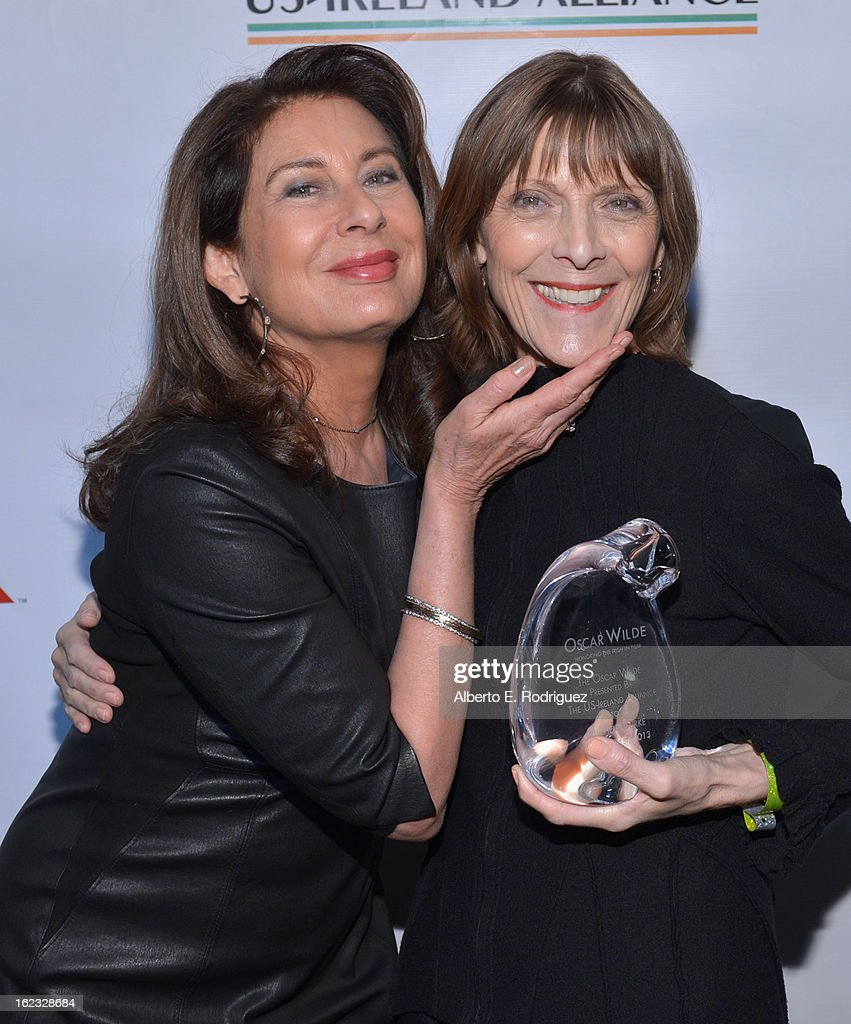 Producer <a gi-track='captionPersonalityLinkClicked' href=/galleries/search?phrase=Paula+Wagner&family=editorial&specificpeople=220393 ng-click='$event.stopPropagation()'>Paula Wagner</a> and honoree Michele Burke attend the 8th Annual 'Oscar Wilde: Honoring The Irish In Film' Pre-Academy Awards Event at Bad Robot on February 21, 2013 in Santa Monica, California.