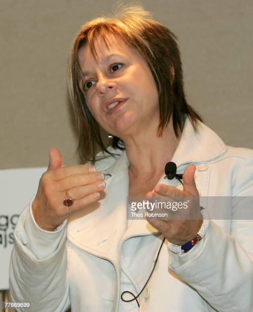 Producer Peggy Rajski speaks during the Pitch Me panel discussion at the American Film Market held at Le Merigot Hotel on November 3 2007 in Santa...