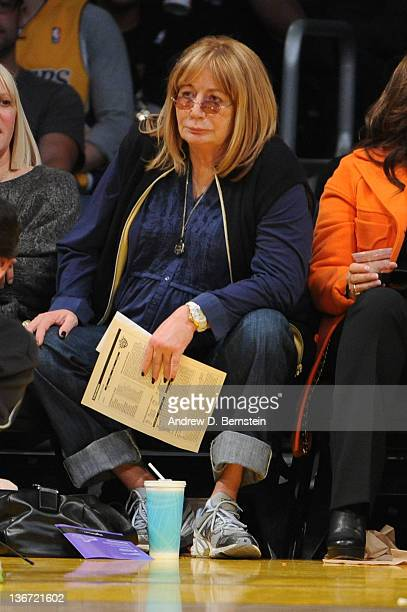 Producer Penny Marshall attends a game between the Phoenix Suns and the Los Angeles Lakers at Staples Center on January 10 2012 in Los Angeles...