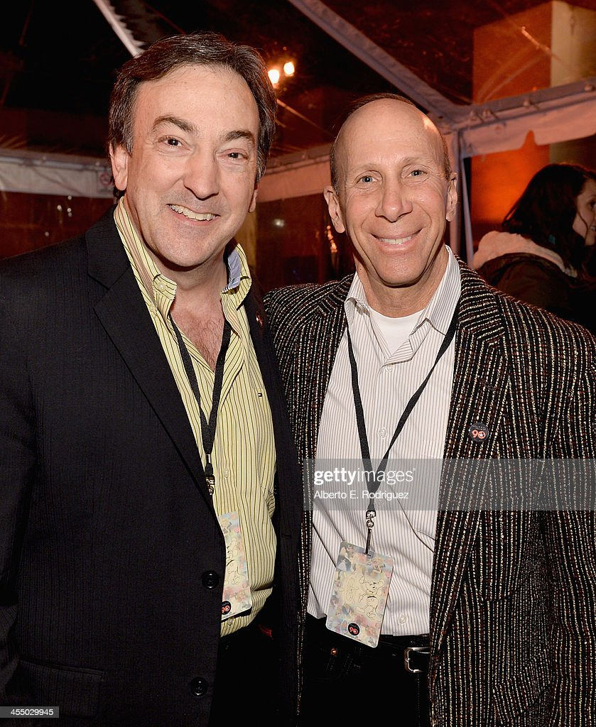 Producer Peter Del Vecho (L) and art director Mike Giaimo attend the 90 Years of Disney Animation celebration at Walt Disney Studios on December 10, 2013 in Burbank, California.