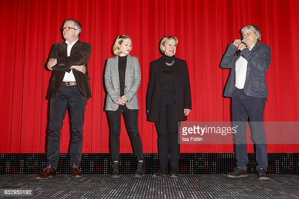 Producer Peter Hartwig Producer Constanze Guttmann leader of production Christine Rothe and director Andreas Dresen attends the 'Timm Thaler oder das...