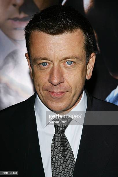 Producer Peter Morgan arrives at the Los Angeles Premiere of 'Frost/Nixon' held at The Academy of Motion Picture Arts and Sciences on November 24...