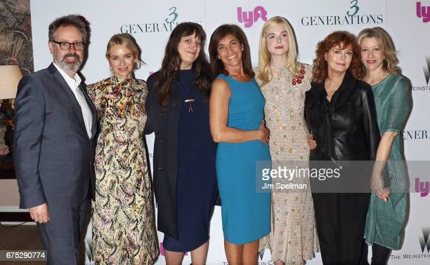 Producer Peter Saraf actress Naomi Watts writer Nikole Beckwith director Gaby Dellal Actress Elle Fanning and Susan Sarandon and Linda Emond attend...
