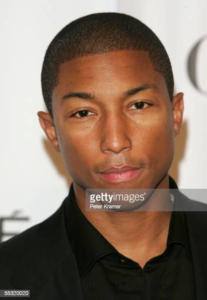 Producer Pharrell Williams arrives at Fashion Rocks at Radio City Music Hall September 8 2005 in New York City