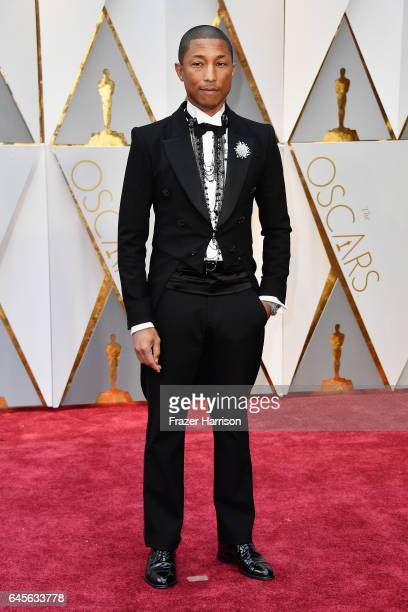 Producer Pharrell Williams attends the 89th Annual Academy Awards at Hollywood Highland Center on February 26 2017 in Hollywood California