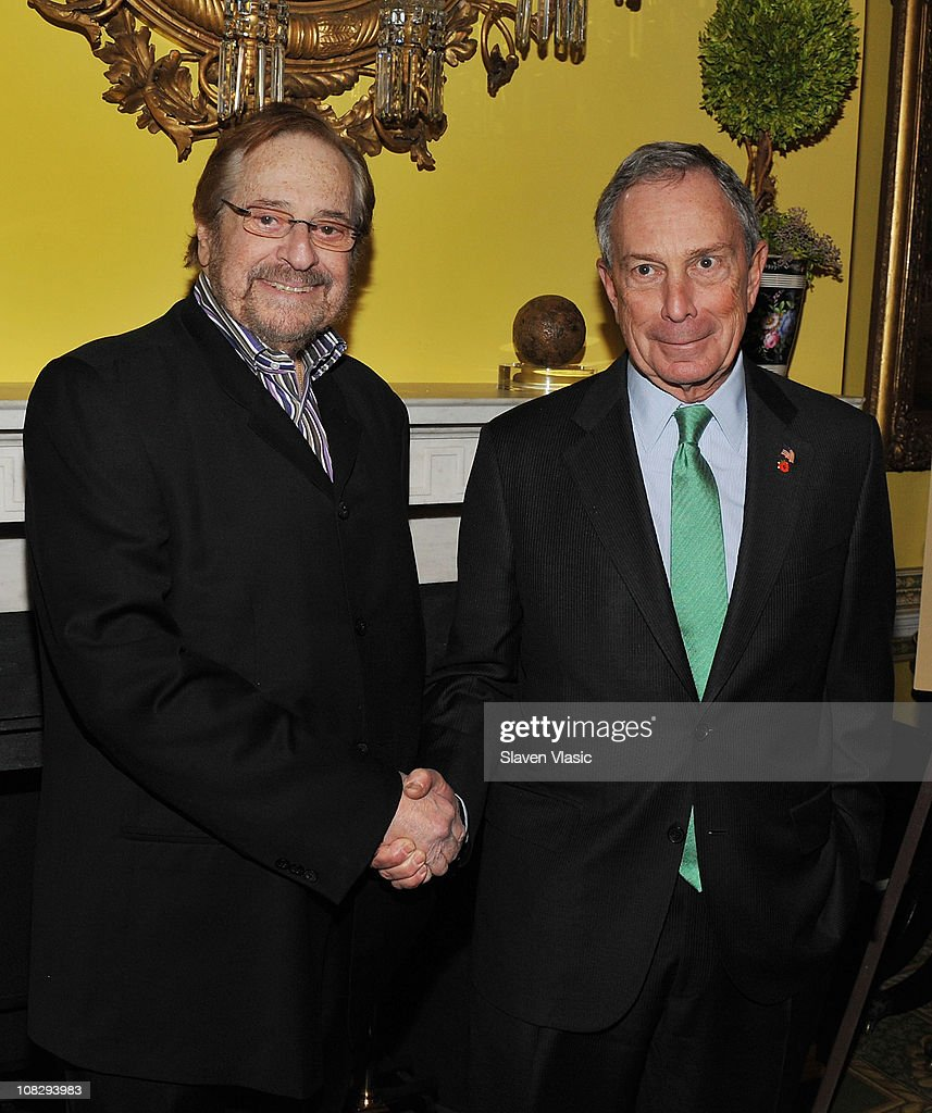 Producer Phil Ramone and NYC Mayor Michael Bloomberg attend the Recording Academy New York Chapter's 53rd GRAMMY Award Nominees Reception at Gracie Mansion on January 20, 2011 in New York City.
