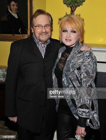 Producer Phil Ramone and singer Cyndi Lauper attend the Recording Academy New York Chapter's 53rd GRAMMY Award Nominees Reception at Gracie Mansion...