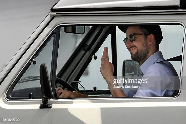 Producer Philipp Kaessbohrer arrives at ZDFneo studios prior to his late night show 'neo magazin royal' on May 11 2016 in Cologne Germany Jan...