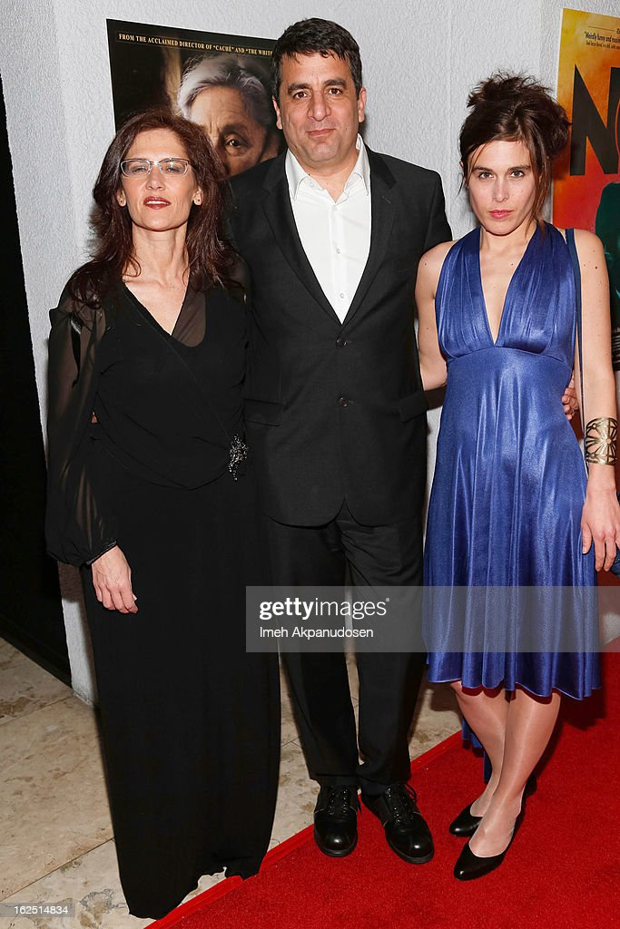 Producer <a gi-track='captionPersonalityLinkClicked' href=/galleries/search?phrase=Philippa+Kowarsky&family=editorial&specificpeople=10491436 ng-click='$event.stopPropagation()'>Philippa Kowarsky</a>, director <a gi-track='captionPersonalityLinkClicked' href=/galleries/search?phrase=Dror+Moreh&family=editorial&specificpeople=9690099 ng-click='$event.stopPropagation()'>Dror Moreh</a> and producer <a gi-track='captionPersonalityLinkClicked' href=/galleries/search?phrase=Estelle+Fialon&family=editorial&specificpeople=10491435 ng-click='$event.stopPropagation()'>Estelle Fialon</a> attend the Sony Pictures Classics Pre-Oscar Dinner at The London Hotel on February 23, 2013 in West Hollywood, California.