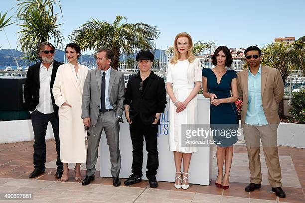 Producer PierreAnge Le Pogam actress Jeanne Balibar director Olivier Dahan actresses Nicole Kidman Paz Vega and screenwriter and producer Uday Chopra...