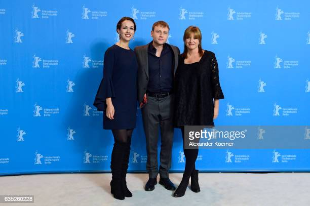 Producer Polly Staniford actor Max Riemelt and director Cate Shortland attend the 'Berlin Syndrom' photo call during the 67th Berlinale International...