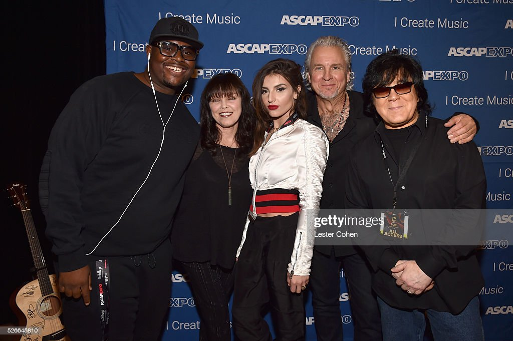 Producer Pro Reece, singer Pat Benatar, Hana Giraldo, musician Neil Giraldo and ASCAP Membership EVP John Titta attend the 2016 ASCAP 'I Create Music' EXPO on April 30, 2016 in Los Angeles, California.