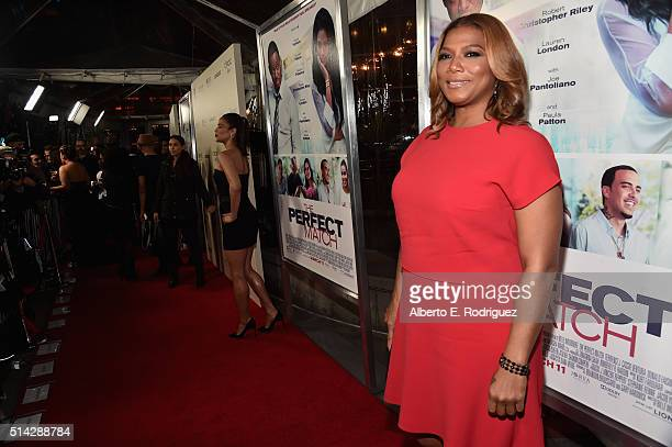 Producer Queen Latifah attends the premiere of Lionsgate's 'The Perfect Match' at ArcLight Hollywood on March 7 2016 in Hollywood California