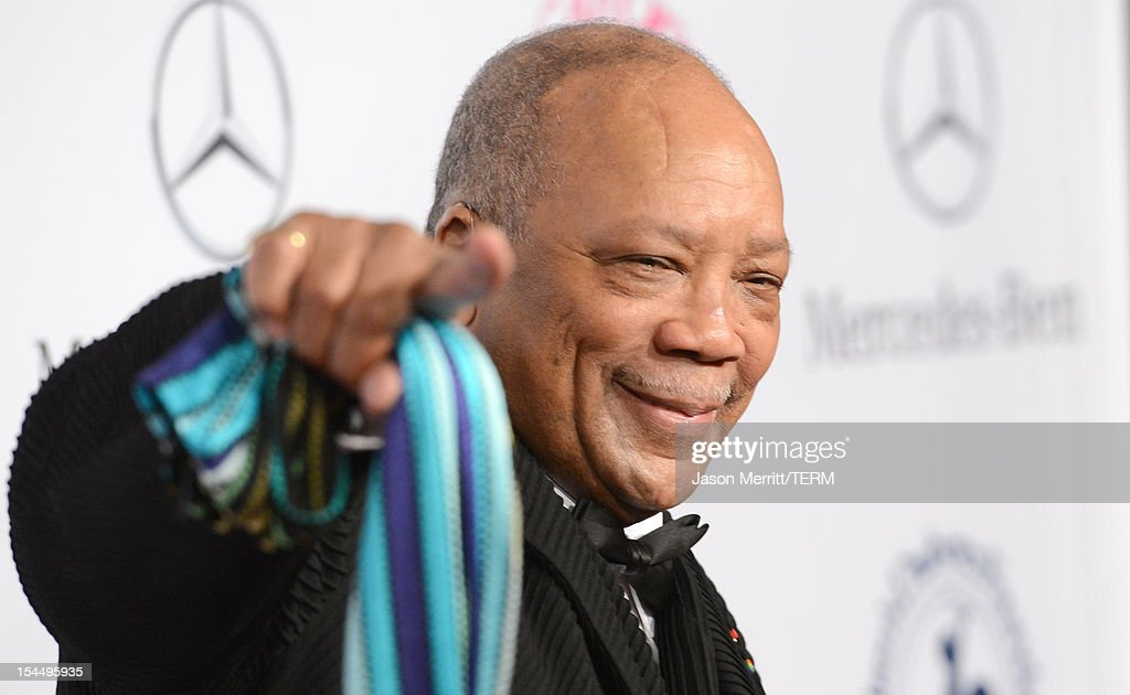 Producer <a gi-track='captionPersonalityLinkClicked' href=/galleries/search?phrase=Quincy+Jones&family=editorial&specificpeople=171797 ng-click='$event.stopPropagation()'>Quincy Jones</a> arrives at the 26th Anniversary Carousel Of Hope Ball presented by Mercedes-Benz at The Beverly Hilton Hotel on October 20, 2012 in Beverly Hills, California.