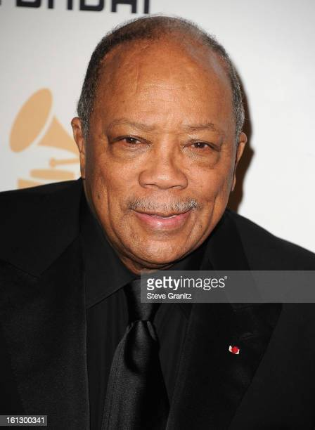 Producer Quincy Jones arrives at the 55th Annual GRAMMY Awards PreGRAMMY Gala and Salute to Industry Icons honoring LA Reid held at The Beverly...
