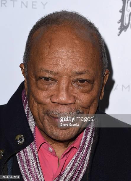 Producer Quincy Jones attends Stella McCartney Autumn 2016 Presentation at Amoeba Music on January 12 2016 in Los Angeles California