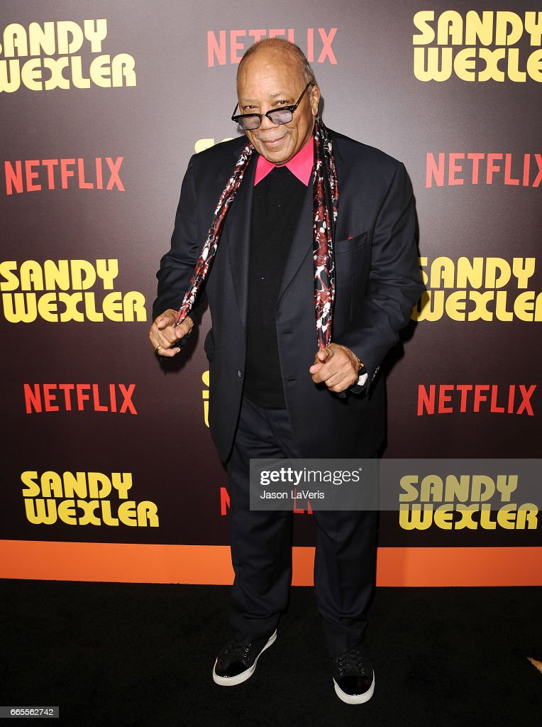 Producer Quincy Jones attends the premiere of 'Sandy Wexler' at ArcLight Cinemas Cinerama Dome on April 6, 2017 in Hollywood, California.