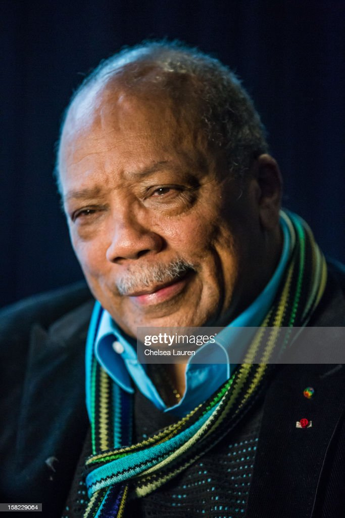 Producer Quincy Jones attends the Rock & Roll Hall of Fame 2013 Inductee Press Conference at Nokia Theatre L.A. Live on December 11, 2012 in Los Angeles, California.