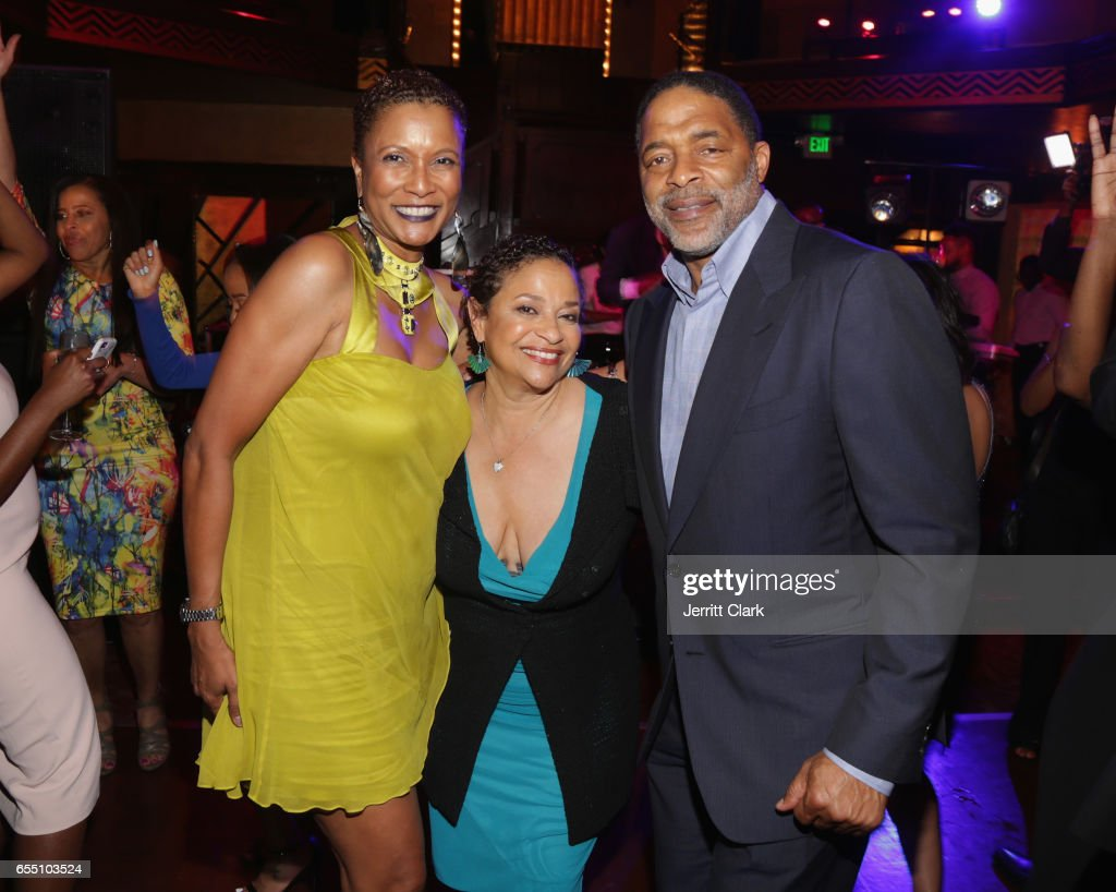 Producer Rachel Frazier Johnson, ESQ, Debbi Allen and guest attend Vanessa Bell Calloway's 60th Birthday Bash at Cicada on March 18, 2017 in Los Angeles, California.