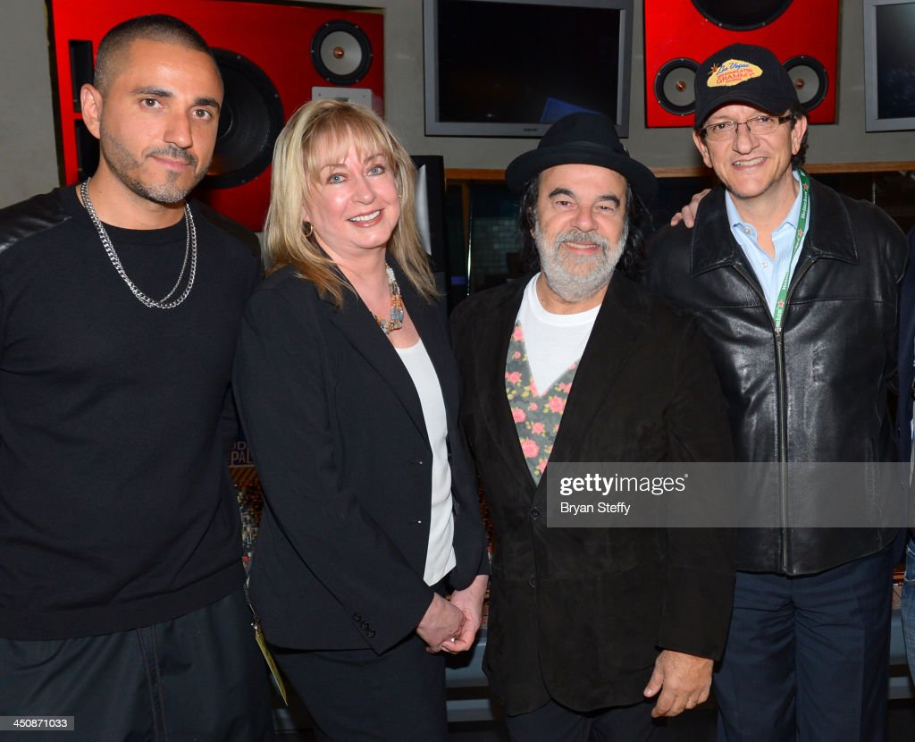 Producer Rafael Arcaute, Senior Director of The Producers & Engineers Wing Maureen Droney, producer Moogie Canazio and President and CEO of the Latin Recording Academy <a gi-track='captionPersonalityLinkClicked' href=/galleries/search?phrase=Gabriel+Abaroa&family=editorial&specificpeople=691921 ng-click='$event.stopPropagation()'>Gabriel Abaroa</a> attend the P&E Wing Latin GRAMMY Celebration during the 14th annual Latin GRAMMY Awards on November 19, 2013 at the Palms Casino Resort in Las Vegas, Nevada.