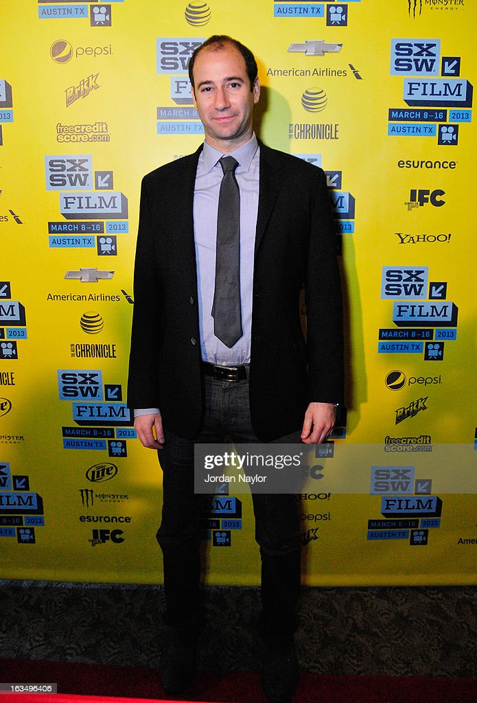 Producer Rafael Marmor poses in the greenroom at the screening of 'The Short Game' during the 2013 SXSW Music, Film + Interactive Festival at Stateside Theater on March 10, 2013 in Austin, Texas.