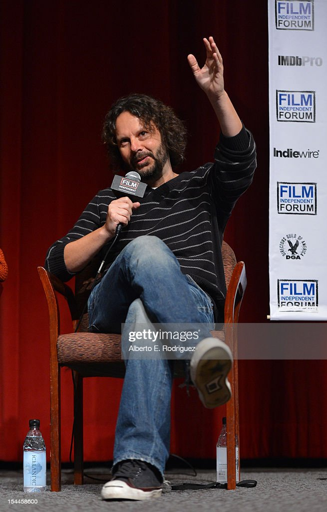 Producer Ram Bergman speaks onstage during the Film Independent Film Forum at Directors Guild of America on October 20, 2012 in Los Angeles, California.