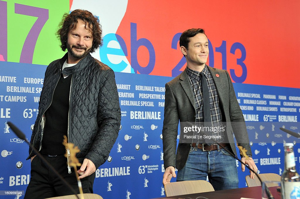 Producer Ram Bergmann and director and actor Joseph Gordon Levitt attend the 'Don Jon's Addiction' Press Conference during the 63rd Berlinale International Film Festival at the Grand Hyatt Hotel on February 8, 2013 in Berlin, Germany.