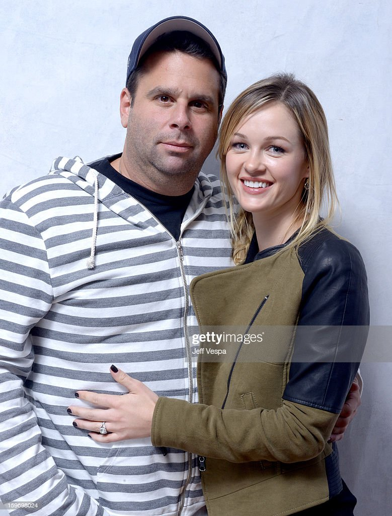 Producer Randall Emmett (L) and actress Ambyr Childers pose for a portrait during the 2013 Sundance Film Festival at the WireImage Portrait Studio at Village At The Lift on January 18, 2013 in Park City, Utah.