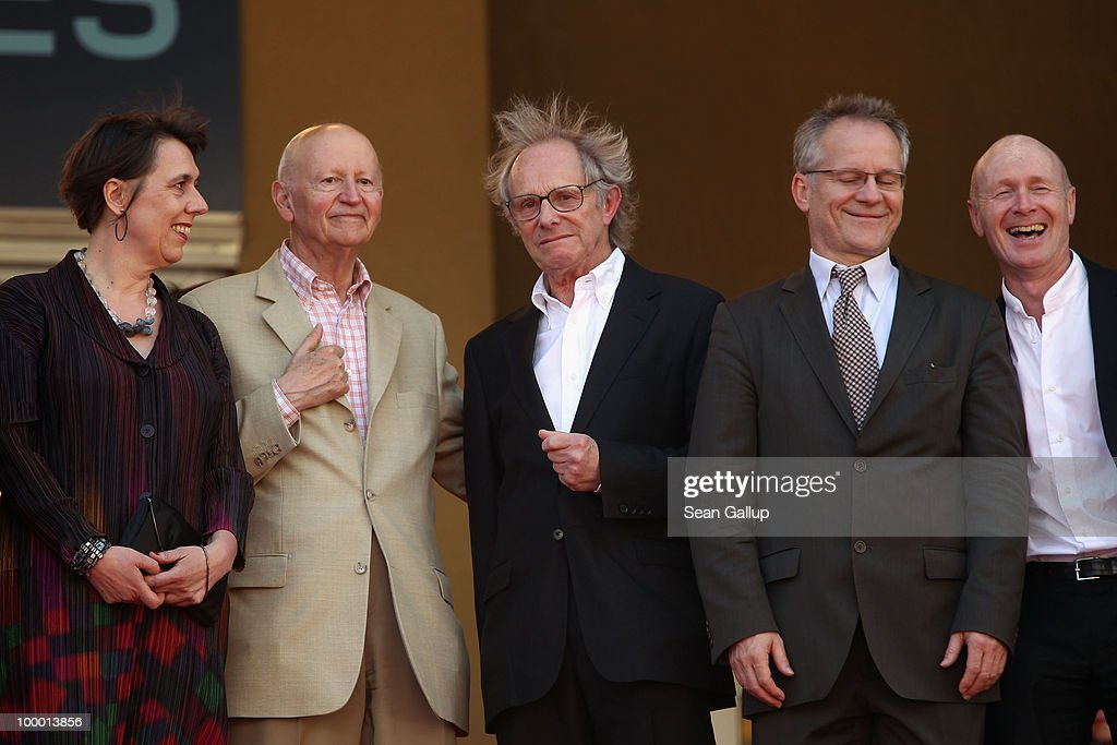 Producer Rebecca O'Brien, Cannes Film Festival President Gilles Jacob, Director Ken Loach, Director of the Cannes Film Festival Thierry Fremaux and screenwriter Paul Laverty attend the 'Route Irish' Premiere at the Palais des Festivals during the 63rd Annual Cannes Film Festival on May 20, 2010 in Cannes, France.
