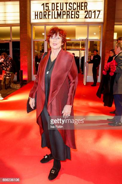 Producer Regina Ziegler arrives at the Deutscher Hoerfilmpreis at Kino International on March 21 2017 in Berlin Germany