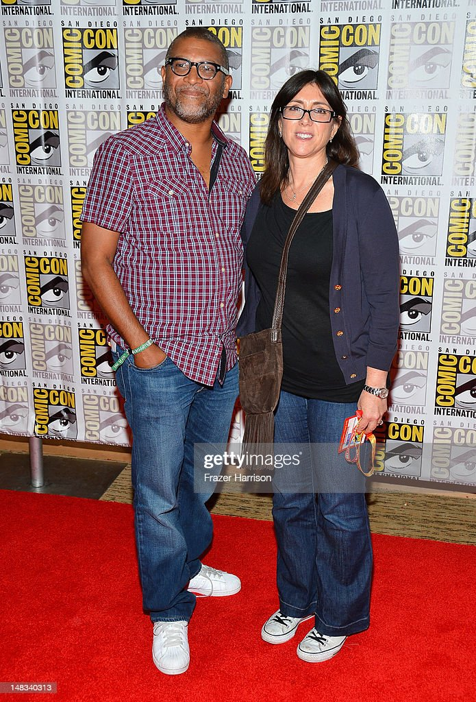 Producer <a gi-track='captionPersonalityLinkClicked' href=/galleries/search?phrase=Reginald+Hudlin&family=editorial&specificpeople=671015 ng-click='$event.stopPropagation()'>Reginald Hudlin</a> and <a gi-track='captionPersonalityLinkClicked' href=/galleries/search?phrase=Stacey+Sher&family=editorial&specificpeople=2082596 ng-click='$event.stopPropagation()'>Stacey Sher</a> attend 'DJango Unchained' Press Line during Comic-Con International 2012 at Hilton San Diego Bayfront Hotel on July 14, 2012 in San Diego, California.