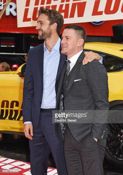 Producer Reid Carolin and Channing Tatum attend the 'Logan Lucky' UK Premiere at Vue West End on August 21 2017 in London England