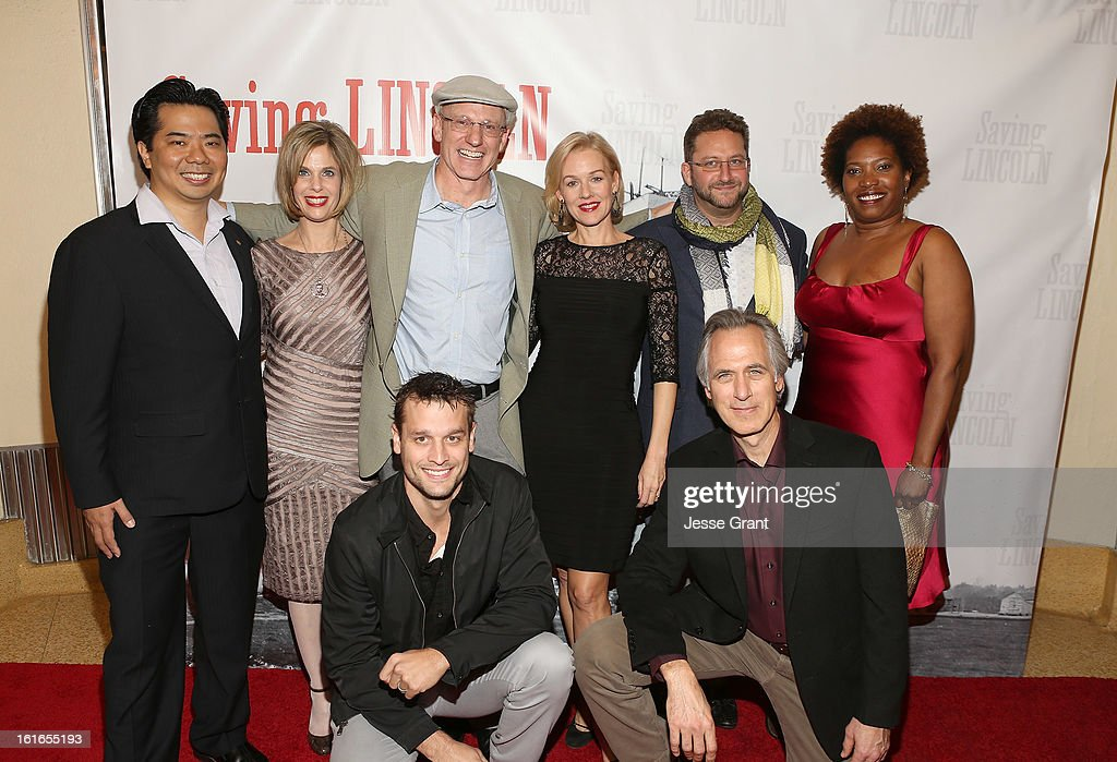 Producer Reuben Lim, writer Nina Davidovich, director Salvador Litvak, actress <a gi-track='captionPersonalityLinkClicked' href=/galleries/search?phrase=Penelope+Ann+Miller&family=editorial&specificpeople=563387 ng-click='$event.stopPropagation()'>Penelope Ann Miller</a>, producer Horatio C. Kemeny, actress Saidah Arrika Ekulona, actor Lea Coco and actor <a gi-track='captionPersonalityLinkClicked' href=/galleries/search?phrase=Tom+Amandes&family=editorial&specificpeople=3383118 ng-click='$event.stopPropagation()'>Tom Amandes</a> attend the Pictures From The Fringe World Premiere of 'Saving Lincoln' at The Alex Theatre on February 13, 2013 in Glendale, California.