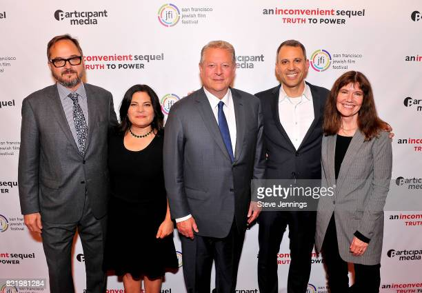 Producer Richard Berge CoDirector Bonni Cohen Former Vice President Al Gore CoDirector Jon Shenk and Producer Diane Weyermann attend a special San...
