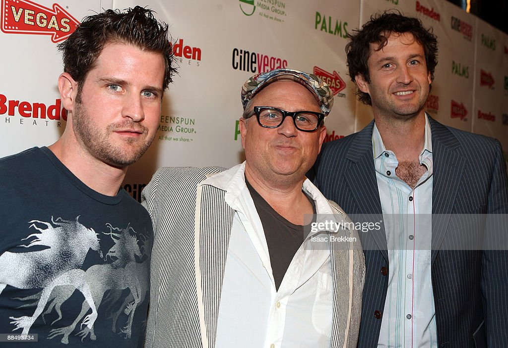 Producer Richard Kelly, writer/director Bobcat Goldthwait, and Trevor Groth arrive at the 'World's Greatest Dad' red carpet during the 11th annual CineVegas film festival held at the Brenden Theatres inside the Palms Casino Resort inside the Palms Casino Resort on June 14, 2009 in Las Vegas, Nevada.