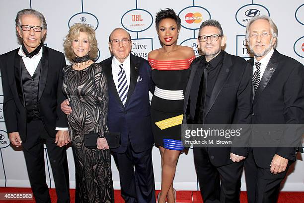 Producer Richard Perry actress Jane Fonda Sony Music Chief Creative Officer Clive Davis recording artist/actress Jennifer Hudson honoree Lucian...