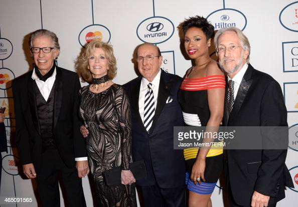 Producer Richard Perry actress Jane Fonda Sony Music Chief Creative Officer Clive Davis singer/actress Jennifer Hudson and Recording Academy...