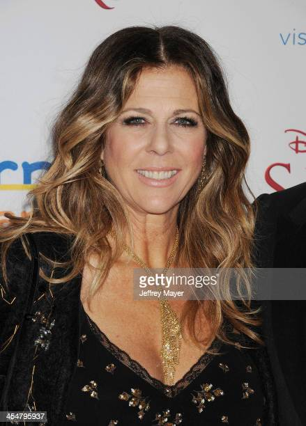 Producer Rita Wilson arrives at the 'Saving Mr Banks' Los Angeles Premiere at Walt Disney Studios on December 9 2013 in Burbank California