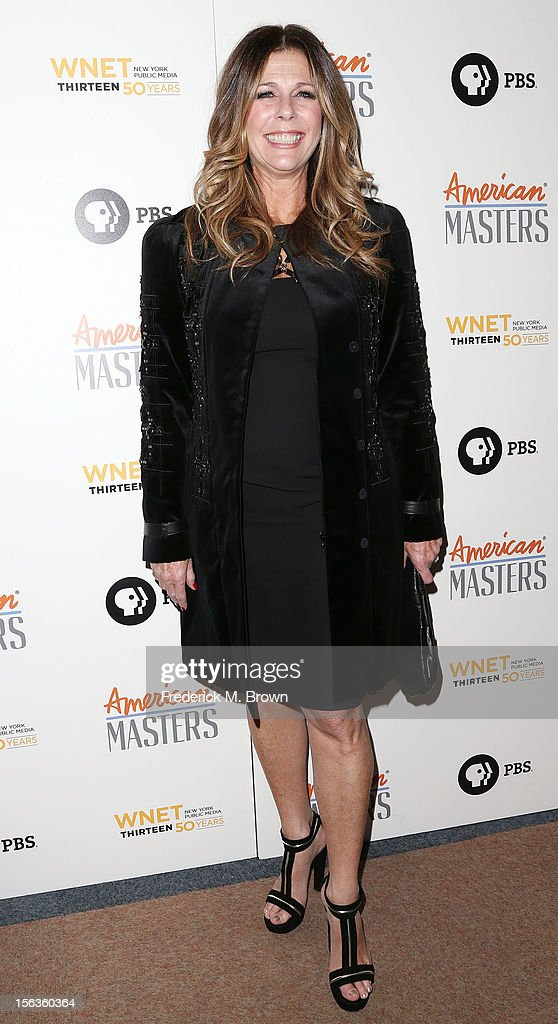 Producer <a gi-track='captionPersonalityLinkClicked' href=/galleries/search?phrase=Rita+Wilson&family=editorial&specificpeople=202642 ng-click='$event.stopPropagation()'>Rita Wilson</a> attends the Premiere Of 'American Masters Inventing David Geffen' at The Writers Guild of America on November 13, 2012 in Beverly Hills, California.