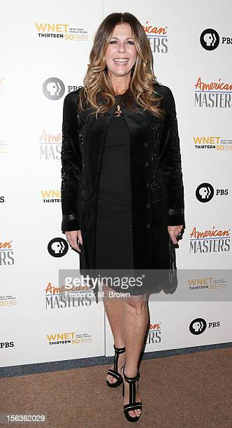 Producer Rita Wilson attends the Premiere Of 'American Masters Inventing David Geffen' at The Writers Guild of America on November 13 2012 in Beverly...