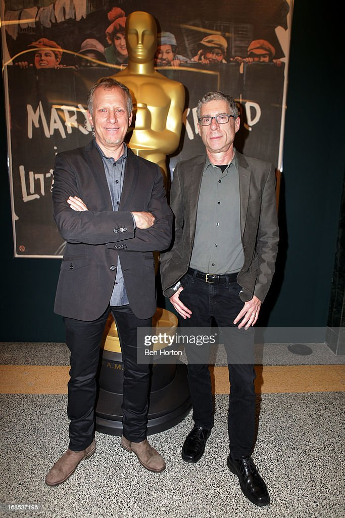 Producer <a gi-track='captionPersonalityLinkClicked' href=/galleries/search?phrase=Rob+Epstein&family=editorial&specificpeople=2669345 ng-click='$event.stopPropagation()'>Rob Epstein</a> and filmmaker Jeffrey Friedman attend the Academy of Motion Picture Arts and Sciences' special screening and discussion of Shirley Clarke's 'Portrait Of Jason' at Pickford Center for Motion Study on May 10, 2013 in Hollywood, California.