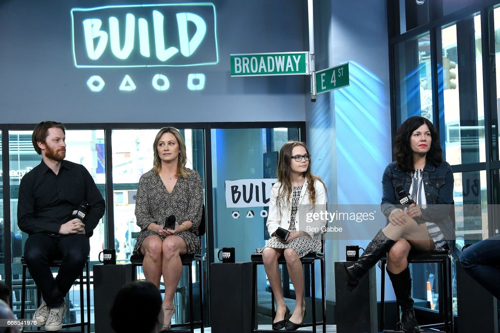 Producer Rob Meyer, Christine Taylor, Oona Laurence and director Annie J Howell attend the Build Series to discuss 'Little Boxes' at Build Studio on April 14, 2017 in New York City.