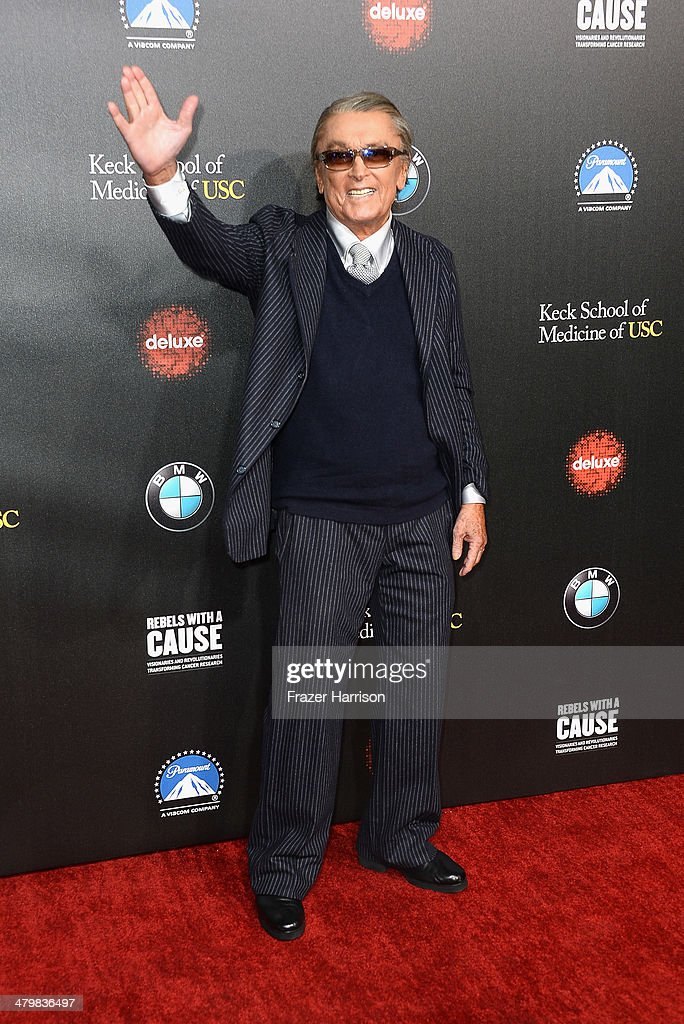 Producer Robert Evans arrives at the 2nd Annual Rebels With A Cause Gala at Paramount Studios on March 20 2014 in Hollywood California