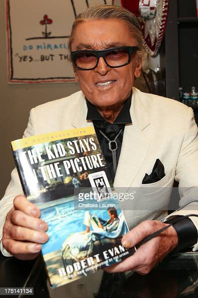 Producer Robert Evans signs copies of his new book 'The Kid Stays In The Picture' at Book Soup on July 31 2013 in West Hollywood California