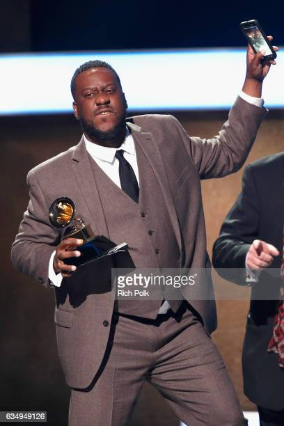 Producer Robert Glasper accepts the Best Compilation Soundtrack for Visual Media for 'Miles Ahead' onstage at the Premiere Ceremony during the 59th...