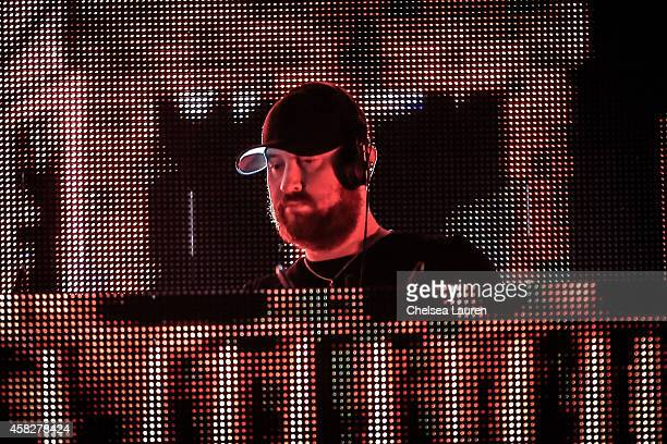 Producer Robert SwireThompson of Knife Party performs during day 1 of HARD Day of the Dead at Fairplex on November 1 2014 in Pomona California