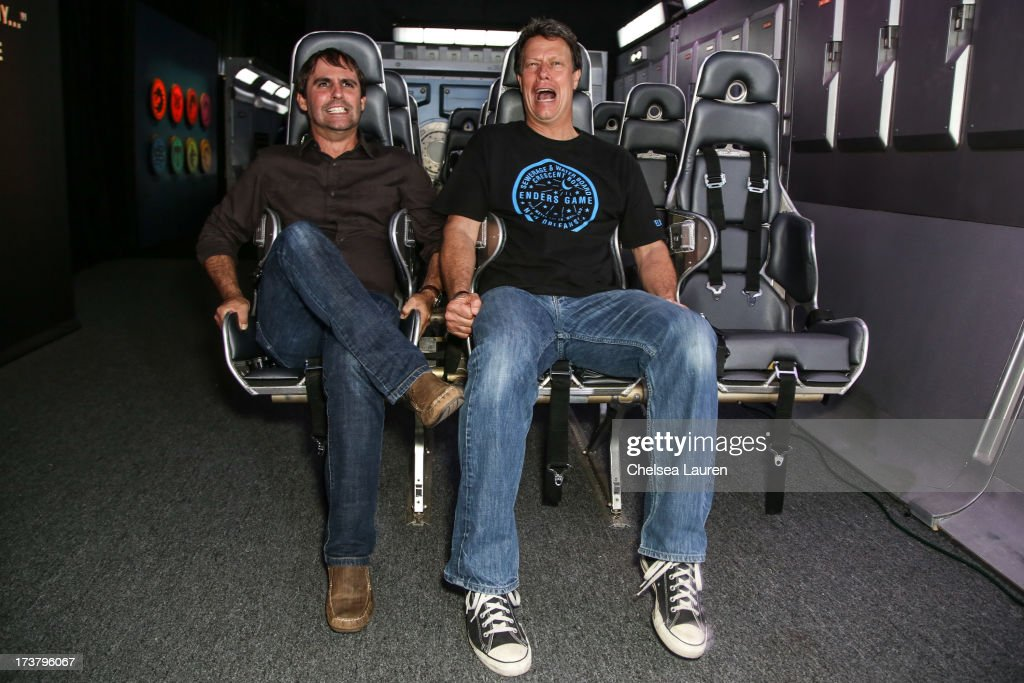 Producer Roberto Orci (L) and director <a gi-track='captionPersonalityLinkClicked' href=/galleries/search?phrase=Gavin+Hood&family=editorial&specificpeople=667949 ng-click='$event.stopPropagation()'>Gavin Hood</a> attend the 'Ender's Game' exclusive fan experience press prevew night on July 17, 2013 in San Diego, California.